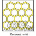 Crealies Decorette no. 3 Stanz Hintergrund Honeycomb 5 cm x 5 cm