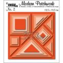 Crealies Modern Patchwork no. 2 Quadrat CLMP02