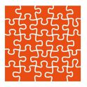Marianne D Embossing folder Puzzle