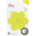 Nellies Choice Rosette Folding Die - Weihnachtskugel Stern gross NFD016