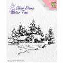 Nellie`s Choice Clearstamp - Winter Time Winterhause WT002 (08-16)