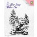 Nellie`s Choice Clearstamp - Winter Time Winter Wasserfall WT004 (08-16)