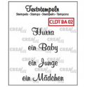 Crealies Clearstamp Text (DE) Baby 02 max 33mm / CLDTBA02