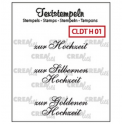 Crealies Clearstamp Text (DE) Hochzeit 01 max 33mm 054401