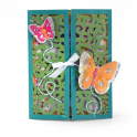 Sizzix Thinlits Die Set - Gatefold card butterflies 10PK 661390 Lori Whitlock