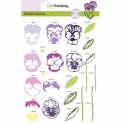 CraftEmotions step clearstamps A5 - Veilchen Sweet Violets