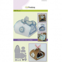 CraftEmotions Die - chocolate box scallop Card A5 box 64x64x68 mm