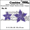 Crealies Combies no.1 Blumen A 22x22 - 32x31 mm /CLCB01
