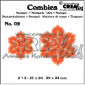 Crealies Combies no.2 Blumen B 21x24 - 30x34 mm /CLCB02