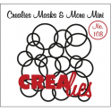 Crealies Masks & More Mini no. 108 Interlocking circles 104x107mm / CLMMM108
