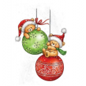 Wild Rose Studio`s A7 stamp set Teddy Baubles CL510