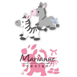 Marianne D Collectable Eline`s zebra & donkey COL1447