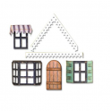 Sizzix Thinlits Die Set 7PK - Village Fixer Upper 662699 Tim Holtz