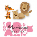 Marianne D Collectable Eline`s Löwe/Tiger COL1455 100x75mm