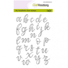 CraftEmotions clearstamps A6 - handletter - Alph. Kleinb. (offen) CK