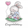 Wild Rose Studio`s A7 stamp set Baby Bunny CL517