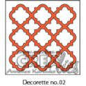 Crealies Decorette no. 2 Stanz Hintergrund Diamant Ornam. 4,5 cm x 4,5 cm