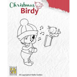Nellies Choice Clear Stempel - Weihnachten Birdie Christmas Song