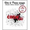 Crealies Clearstamp Bits&Pieces no. 27 Grunge