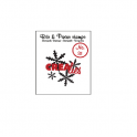 Crealies Clearstamp Bits & Pieces no. 31 Snowflake 051031