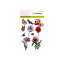 CraftEmotions clearstamps A6 - Mohnblumen, Schmetterlinge Poppy fields (new 02-16)