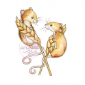 Wild Rose Studio`s A7 stamp set Harvest Mice CL493