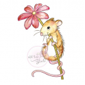 Wild Rose Studio`s A7 stamp set Mouse and Flower CL494