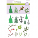 CraftEmotions step clearstamps A5 - Weihnachtsbaum, Zweige Christmas Nature