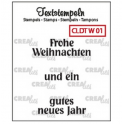 Crealies Clearstamp Text (DE) Weihnachten 01 max 33mm / CLDTW01