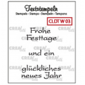 Crealies Clearstamp Text (DE) Weihnachten 03 max 33mm / CLDTW03