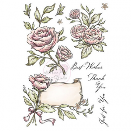 Wild Rose Studio`s A5 stamp set Antique Roses AS004