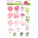 CraftEmotions step clearstamps A5 - Rose