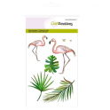 CraftEmotions clearstamps A6 - Flamingo