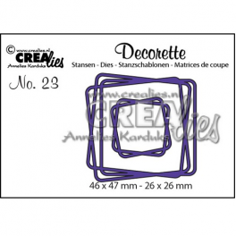 Crealies Decorette no. 23 verflochtene quadrate 46x47-26x26mm / CLDR23
