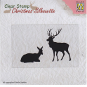 Nellie`s Choice Christmas Silhouette Clear stamps Rentier CSIL001 64x41mm
