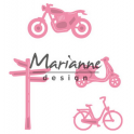 Marianne D Collectable Village decoration set Fahrrad COL1436