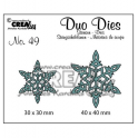 Crealies Duo Dies no. 49 Schneeflock no. 6 30x30 mm-40x40 mm / CLDD49