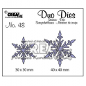 Crealies Duo Dies no. 48 Schneeflock no. 5 30x30 mm-40x40 mm / CLDD48
