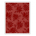 Sizzix Texture Fades Embossing Folder Poinsettias 662433 Tim Holtz