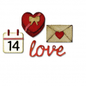 Sizzix Thinlits Dies w/ Embossing Folder - Love 662710 Tim Holtz