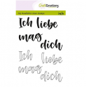 CraftEmotions clearstamps A6 - handletter - für Dich (DE)