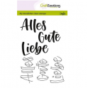 CraftEmotions clearstamps A6 - handletter - Alles Gute, Liebe(DE)