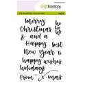 CraftEmotions clearstamps A6 - handletter - words xmas small (Eng) CK