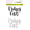 CraftEmotions clearstamps A6 - handletter - Frohes Fest (DE) CK