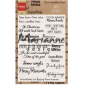 Marianne D Clear Stamp Happy Holidays (EN) CS1009 11,5x18,5cm