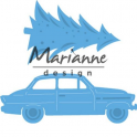 Marianne D Creatable Driving home for christmas LR0567 42x48,5mm - 59x21,5mm