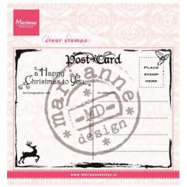 Marianne Design Clear Stamp Christmas Postcard CS0936