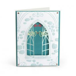 Sizzix 3-D Impresslits Embossing Folder - Wedding Window 663600 Katelyn Lizardi