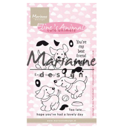 Marianne D Clear Stamp Eline's cute animals - puppies EC0177