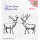 Nellies Choice Clearstempel - Christmas time - zwei Rentiere CT028
